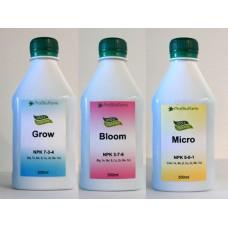 Купить 3-х компонентное удобрение для конопли ProBioFarm Crow, Bloom, Micro 3x300 мл